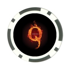 Qanon Letter Q Fire Effect Wwgowga Wwg1wga Poker Chip Card Guard (10 Pack) by snek