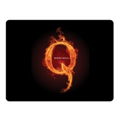 Qanon Letter Q Fire Effect Wwgowga Wwg1wga Fleece Blanket (small)