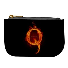 Qanon Letter Q Fire Effect Wwgowga Wwg1wga Large Coin Purse by snek