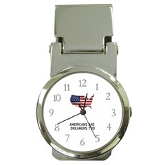 American Are Dreamers Too Buildthewall Maga With Usa Flag Money Clip Watches