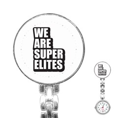 Super Elite Usa Flag In A Star Trump Maga Quote We Are Super Elites Stainless Steel Nurses Watch by snek