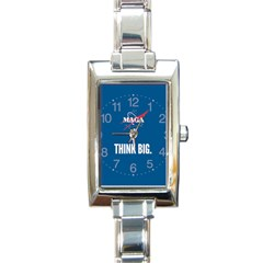 Maga Nasa Parody Logo Rectangle Italian Charm Watch by snek
