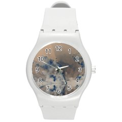 Deep Time Clouds Round Plastic Sport Watch (m)