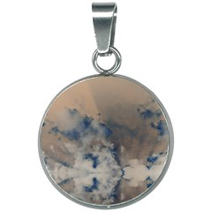Deep Time Clouds 20mm Round Necklace