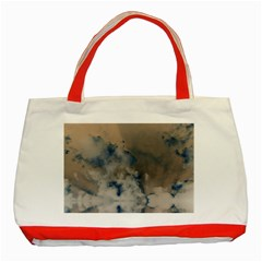 Deep Time Clouds Classic Tote Bag (red)