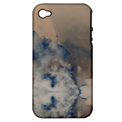 Deep Time Clouds Apple Iphone 4/4s Hardshell Case (pc+silicone) by LoolyElzayat