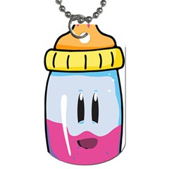 Purp Baby Bottle Dog Tag (two Sides)