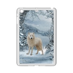 Wonderful Arctic Wolf In The Winter Landscape Ipad Mini 2 Enamel Coated Cases by FantasyWorld7