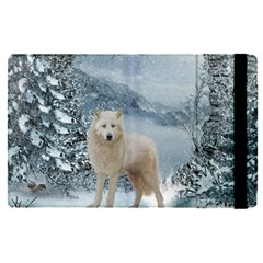 Wonderful Arctic Wolf In The Winter Landscape Ipad Mini 4 by FantasyWorld7