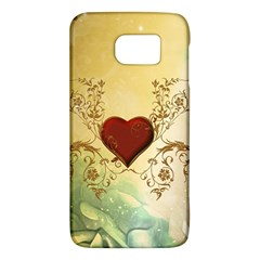 Wonderful Decorative Heart On Soft Vintage Background Samsung Galaxy S6 Hardshell Case  by FantasyWorld7