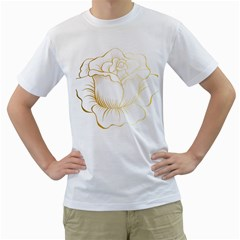 Golden Rose Stakes Men s T Shirt (white) (two Sided)