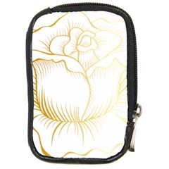Golden Rose Stakes Compact Camera Leather Case by Samandel