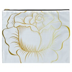 Golden Rose Stakes Cosmetic Bag (xxxl) by Samandel