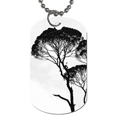 Silhouette Photo Of Trees Dog Tag (one Side) by Samandel