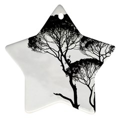 Silhouette Photo Of Trees Star Ornament (two Sides)