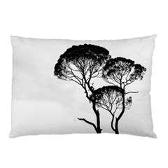 Silhouette Photo Of Trees Pillow Case (two Sides)