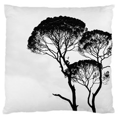 Silhouette Photo Of Trees Large Flano Cushion Case (two Sides) by Samandel