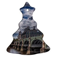 Architecture Big Ben Bridge Buildings Christmas Tree Ornament (two Sides)