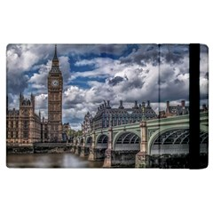 Architecture Big Ben Bridge Buildings Apple Ipad 2 Flip Case by Samandel