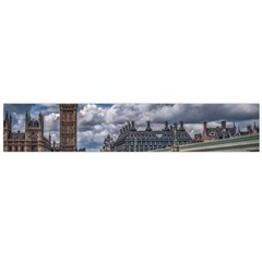 Architecture Big Ben Bridge Buildings Large Flano Scarf