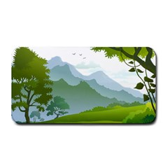 Forest Landscape Photography Illustration Medium Bar Mats