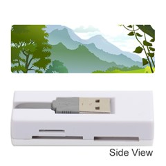 Forest Landscape Photography Illustration Memory Card Reader (stick)