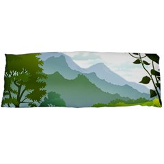 Forest Landscape Photography Illustration Body Pillow Case (dakimakura)