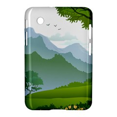 Forest Landscape Photography Illustration Samsung Galaxy Tab 2 (7 ) P3100 Hardshell Case  by Samandel