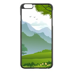 Forest Landscape Photography Illustration Apple Iphone 6 Plus/6s Plus Black Enamel Case