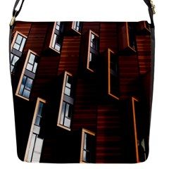 Abstract Architecture Building Business Flap Closure Messenger Bag (s)