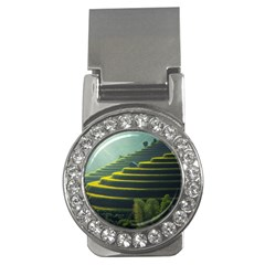 Scenic View Of Rice Paddy Money Clips (cz)