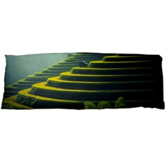 Scenic View Of Rice Paddy Body Pillow Case (dakimakura)