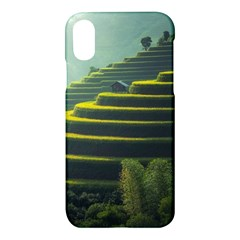 Scenic View Of Rice Paddy Apple Iphone X Hardshell Case