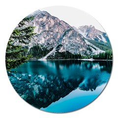 Daylight Forest Glossy Lake Magnet 5  (round)