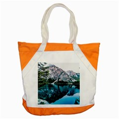 Daylight Forest Glossy Lake Accent Tote Bag