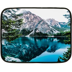Daylight Forest Glossy Lake Double Sided Fleece Blanket (mini)  by Samandel