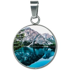 Daylight Forest Glossy Lake 20mm Round Necklace