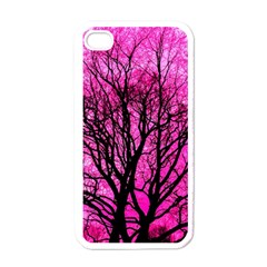 Pink Silhouette Tree Apple Iphone 4 Case (white)