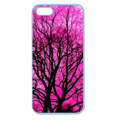 Pink Silhouette Tree Apple Seamless Iphone 5 Case (color)