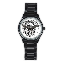 Pirate Rat Animal Pet Danger Stainless Steel Round Watch