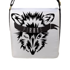 Pirate Rat Animal Pet Danger Flap Closure Messenger Bag (l)