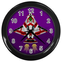 Toy Plane Outer Space Launching Wall Clock (black) by Samandel