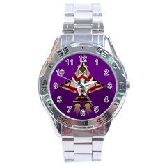 Toy Plane Outer Space Launching Stainless Steel Analogue Watch