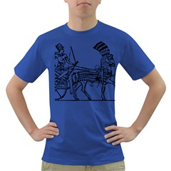 Line Art Drawing Ancient Chariot Dark T Shirt