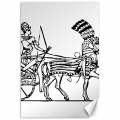 Line Art Drawing Ancient Chariot Canvas 20  X 30