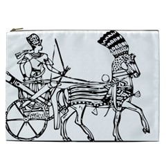 Line Art Drawing Ancient Chariot Cosmetic Bag (xxl)