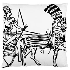 Line Art Drawing Ancient Chariot Standard Flano Cushion Case (one Side)