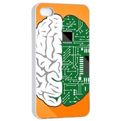 Technology Brain Digital Creative Apple Iphone 4/4s Seamless Case (white)