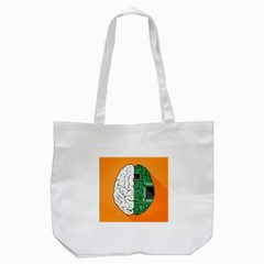 Technology Brain Digital Creative Tote Bag (white)