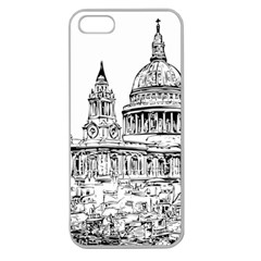 Line Art Architecture Church Apple Seamless Iphone 5 Case (clear)